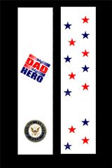 My Dad is my Hero Marines Cheer Bow Ready to Press Sublimation Graphic