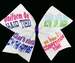 Uniform On Cheer Bow