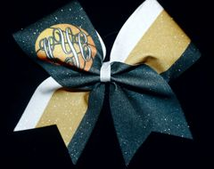 Monogram Basketball Cheer Bow