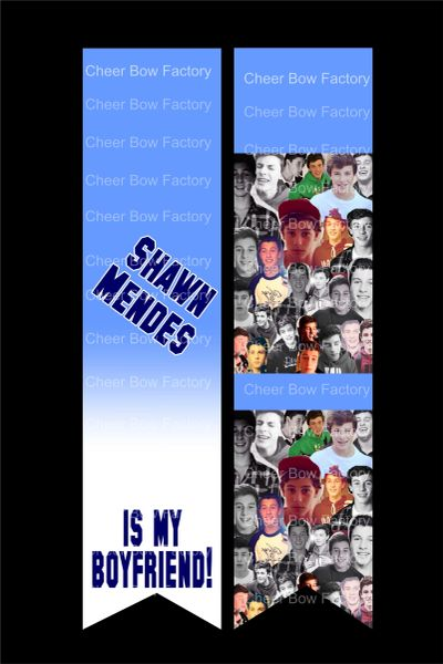 Shawn Mendes is my Boyfriend Cheer Bow Ready to Press Sublimation Graphic