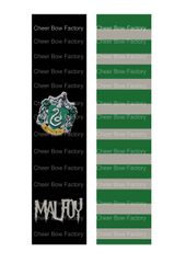 Harry Potter Slytherin Malfoy Cheer Bow Ready to Press Sublimation Graphic
