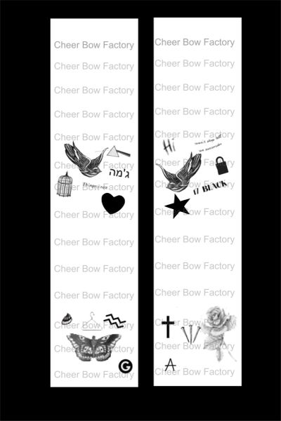 Harry Styles Tattoos Cheer Bow Ready to Press Sublimation Graphic