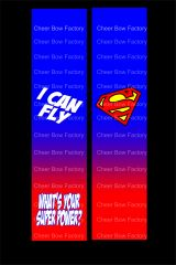 Superman I Can Fly Cheer Bow Ready to Press Sublimation Graphic