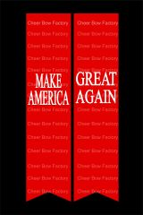 MAKE AMERICA GREAT AGAIN Cheer Bow Ready to Press Sublimation Graphic