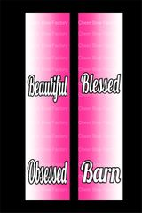 Beautiful Blessed Barn Obsessed Equestrian Cheer Bow Ready to Press Sublimation Graphic