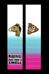 Happiness Has a Smell Equestrian Cheer Bow Ready to Press Sublimation Graphic