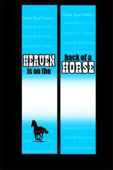 Heaven Is On The Back Of A Horse Equestrian Cheer Bow Ready to Press Sublimation Graphic