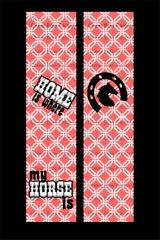 Home Is Wear My Horse Is Equestrian Cheer Bow Ready to Press Sublimation Graphic