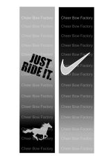 Just Ride It Equestrian Cheer Bow Ready to Press Sublimation Graphic