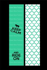 Keep Calm and Ride On Equestrian Cheer Bow Ready to Press Sublimation Graphic