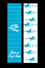 My Heart Beats in Hoof Beats Equestrian Cheer Bow Ready to Press Sublimation Graphic