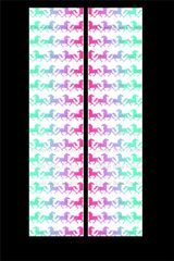 Rainbow Ombre Horse Equestrian Cheer Bow Ready to Press Sublimation Graphic