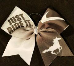 Just Ride It Equestrian Ribbon Bow