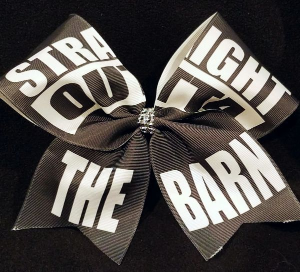 Straight Outta The Barn Equestrian Ribbon Bow
