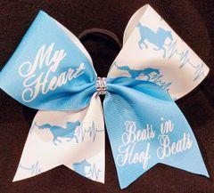 My Heart Beats In Hoof Beats Equestrian Ribbon Bow