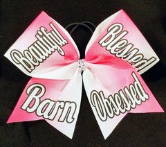 Beautiful Blessed Barn Obsessed Equestrian Ribbon Bow