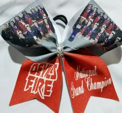 Custom Team Photo Cheer Bow
