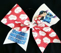 Ohana Means Family Lilo & Stitch Cheer Bow