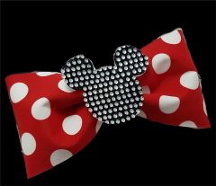 Mickey 3D Rhinestone Center Tailless Cheer Bow
