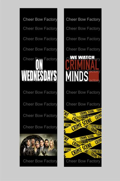 Criminal Minds Cheer Bow Ready to Press Sublimation Graphic