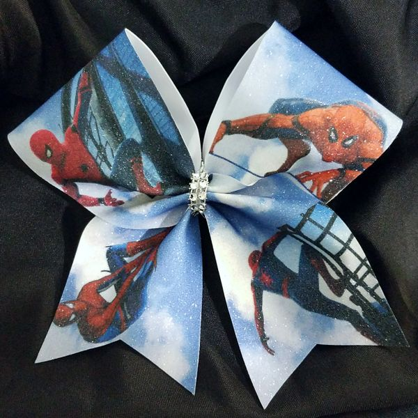 Spider-Man Full Glitter Cheer Bow