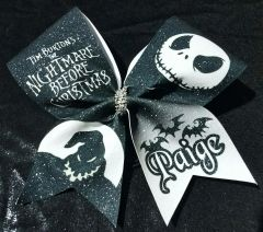 The Nightmare Before Christmas Glitter Cheer Bow