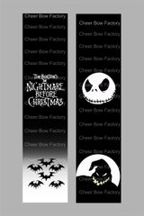 Nightmare Before Christmas Cheer Bow Ready to Press Sublimation Graphic