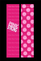 Pink Strong Breast Cancer Awareness Cheer Bow Ready to Press Sublimation Graphic