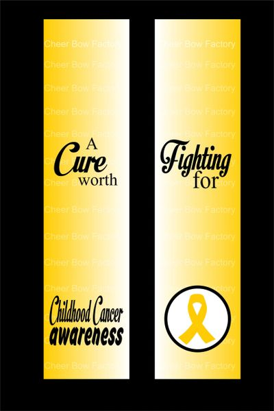 Childhood Cancer Awareness Cheer Bow Ready to Press Sublimation Graphic