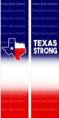 Texas Strong Cheer Bow Ready to Press Sublimation Graphic