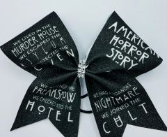 American Horror Story Glitter Cheer Bow