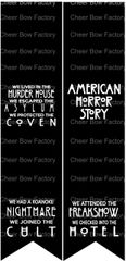 American Horror Story Cheer Bow Sublimation Graphic