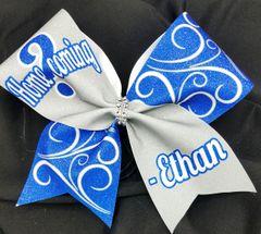Homecoming Glitter Custom Cheer Bow