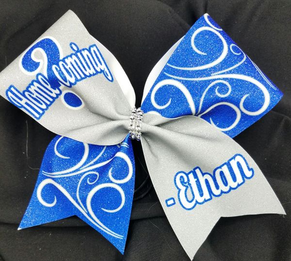 Homecoming Glitter Custom Cheer Bow