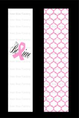 Believe Breast Cancer Awareness Cheer Bow Ready to Press Sublimation Graphic