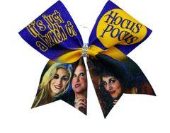 Hocus Pocus Glitter Cheer Bow