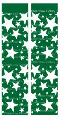 Stars Green Cheer Bow Ready to Press Sublimation Graphic