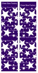Stars Purple Cheer Bow Ready to Press Sublimation Graphic