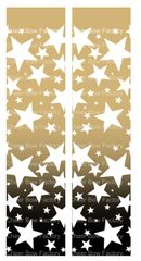 Stars Ombre Gold Black Cheer Bow Ready to Press Sublimation Graphic