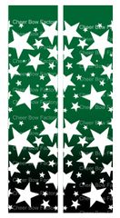 Stars Ombre Green Black Cheer Bow Ready to Press Sublimation Graphic