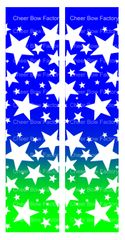 Stars Ombre Royal Lime Cheer Bow Ready to Press Sublimation Graphic