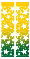 Stars Ombre Athletic Gold Green Cheer Bow Ready to Press Sublimation Graphic
