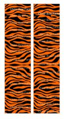 Zebra Orange Black Cheer Bow Ready to Press Sublimation Graphic