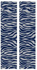 Zebra Navy Silver Cheer Bow Ready to Press Sublimation Graphic