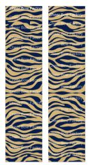 Zebra Navy Gold Cheer Bow Ready to Press Sublimation Graphic