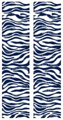Zebra Navy White Cheer Bow Ready to Press Sublimation Graphic