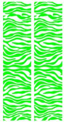 Zebra Lime White Cheer Bow Ready to Press Sublimation Graphic
