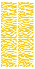 Zebra Athletic Gold White Cheer Bow Ready to Press Sublimation Graphic