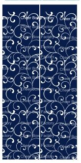 Trellis Navy Cheer Bow Ready to Press Sublimation Graphic