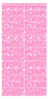Trellis Pink Cheer Bow Ready to Press Sublimation Graphic